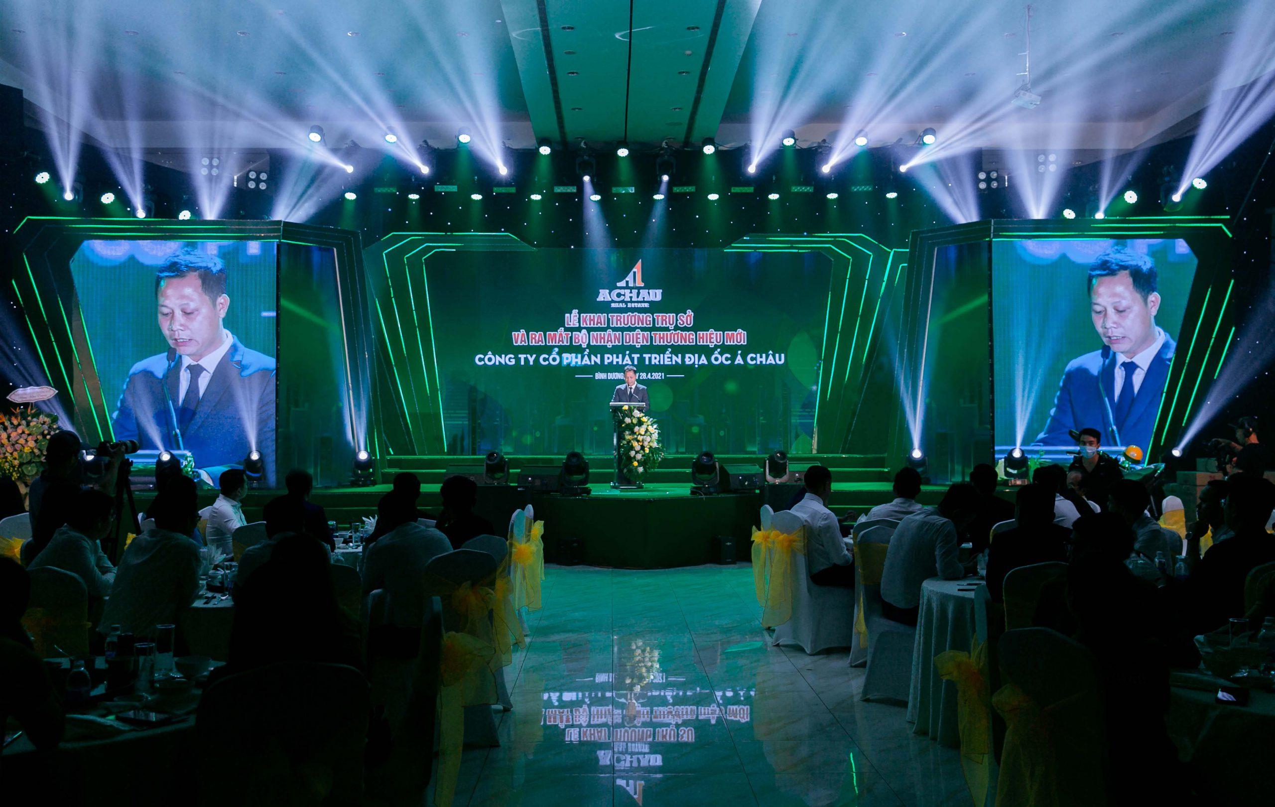 Ông Nguyễn Hữu Tạo – Giám đốc Địa ốc Á Châu phát biểu trong buổi lễ.